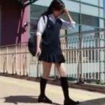 【盗撮動画】激カワ美少女のJKのスカート内を隠し撮りした尾行パンチラ映像が危険すぎる!