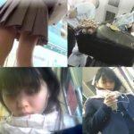 【盗撮動画】即削除!どう見ても幼い顔立ちのJC中◯生の通学中にパンチラを隠し撮り!!