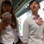 【盗撮動画】激カワ美少女とギャルっ子の二人組を尾行しながら極上パンチラ攻略www