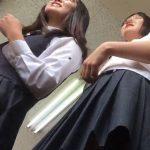 【盗撮動画】ニュースにもなった中◯生のアレ!!!男子が同級生JC美少女のパンチラ逆さ撮り!