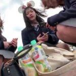 【盗撮動画】修学旅行で東京ディ◯ニーランドに来た女子校生美少女のパンチラ乱獲www