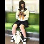 【盗撮動画】黒髪セミロングのJK美少女の白い下半身に食い込むパンチラ映像がマジ傑作!
