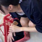 【HD盗撮動画】乳首到達にテンション爆上げ!!!買い物中ギャルのパンチラ胸チラ隠し撮り!