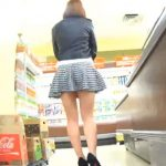 【盗撮動画】パンティが見えない!ミニスカ美脚すぎる素人ギャルのTバック食い込みパンチラ!
