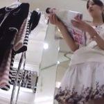 【盗撮動画】Mr.研修生!スレンダー小顔美人の最上級ショップ店員の美女の極上パンチラ!