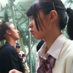 【HD盗撮動画】即削除!アドケナイJC中○生の女の子を尾行して捲りパンチラ!!