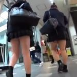 【盗撮動画】バレたら即逮捕!放課後の女子高生に粘着してパンチラ隠し撮り放題!