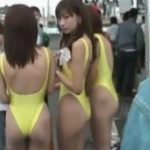 【盗撮動画】具漏れ注意!ハイレグ全盛期のレースクイーン美女の局部を凝視www