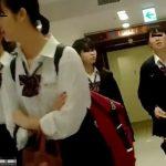【HD盗撮動画】未成熟そうなJC中○生までもパンチラ被害に遭遇した危険映像!!
