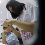 【盗撮動画】激カワ食い込みパンティ!買い物中のJK美少女のパンチラ隠し撮り!!