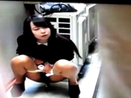 【盗撮動画】奇跡的瞬間に遭遇清楚美少女のお嬢さんが路地裏でまさかの脱糞放尿!!